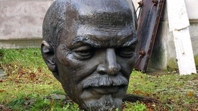 Фрагмент памятника Ленину в Таллине