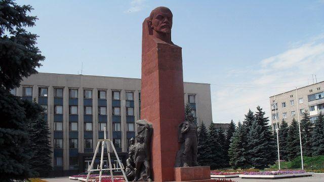 Памятник Ленину в Луганской Народной Республике