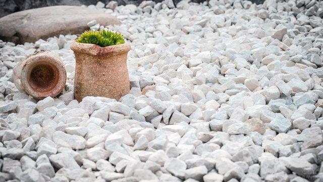 Минималистичный белый сад камней