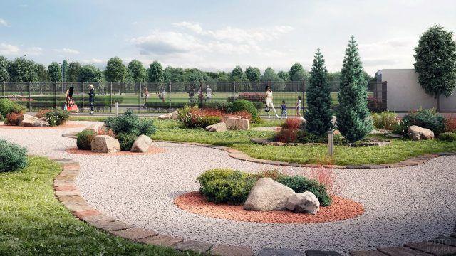 Рокарий в городском ландшафтном дизайне