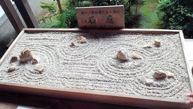 Сад камней храма Рёандзи в Киото
