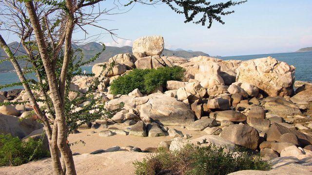 Сад камней на мысе Хон Чонг