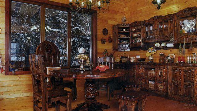 Кухонная мебель под старину
