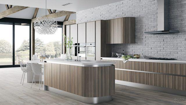 Натуральные материалы в отделке современной кухни