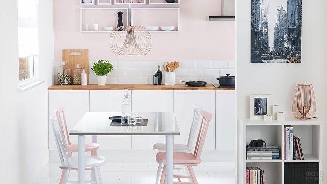 Светлая кухонька в скандинавском стиле