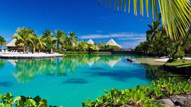 Тропический вид на отель Бора-Бора