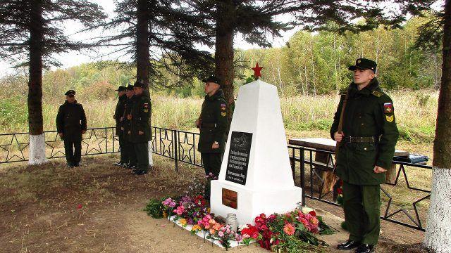 Открытие памятника воинам ВОВ в Калуге