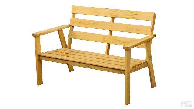 Садовая скамейка из сосны