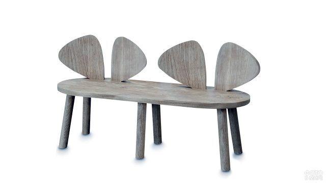 Скамейка с сиденьем-ушками
