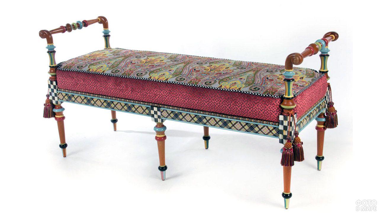 Винтажная скамейка-банкетка