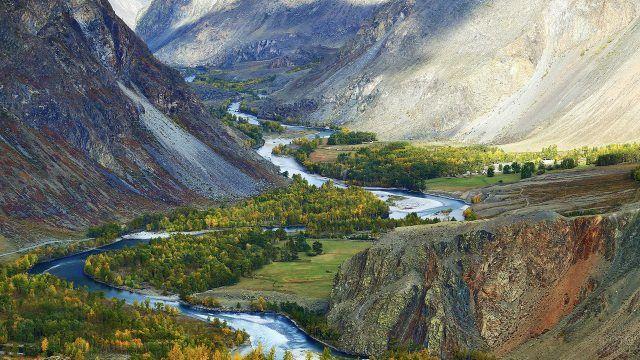 Долина реки Чулышман, осень