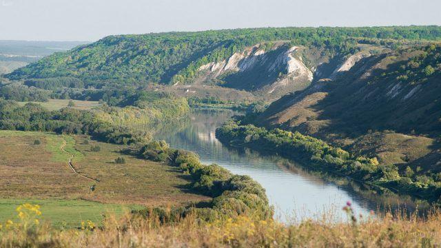 Река Дон, белогорье