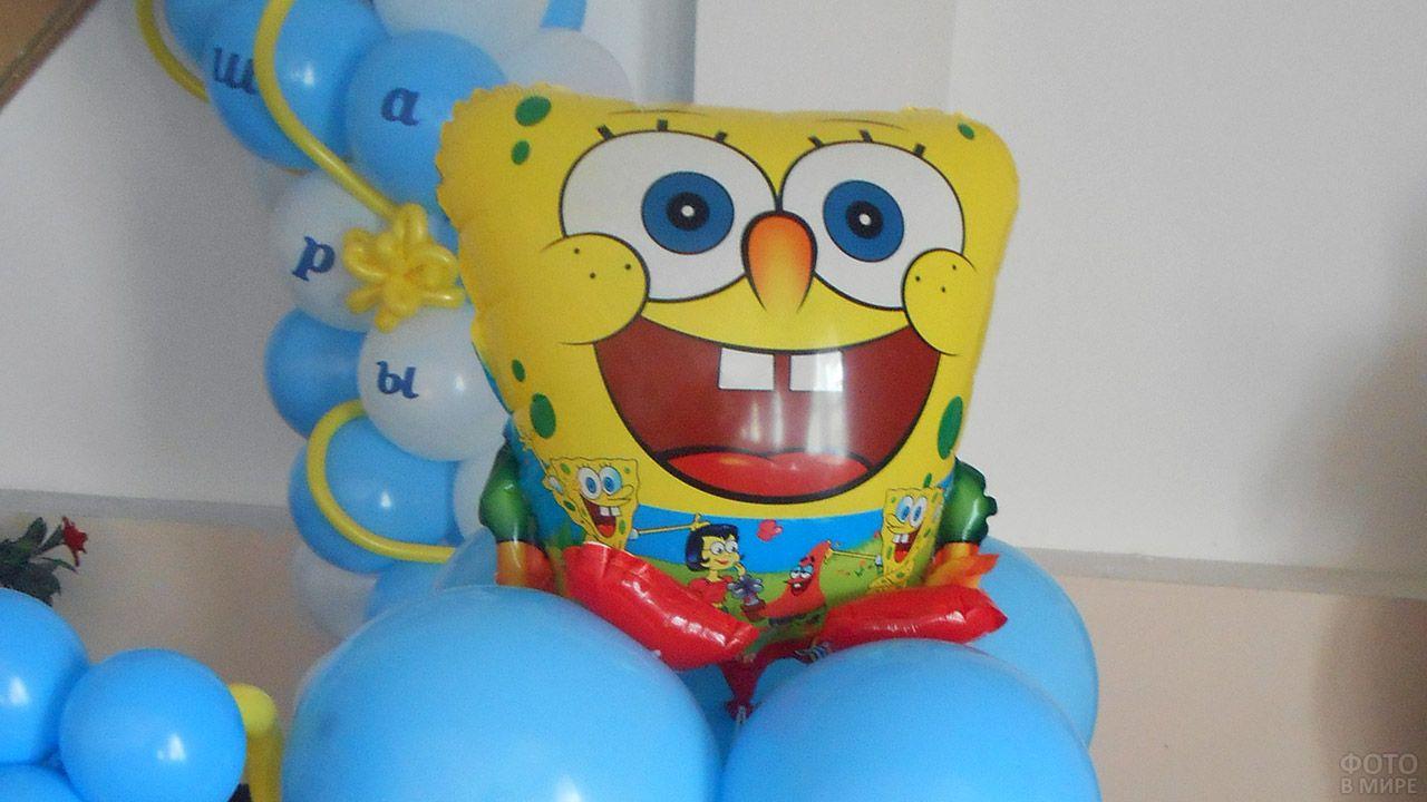 Надувная фигура мульт-персонажа Губка Боб