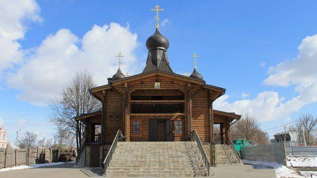 Бревенчатый Храм Святого Серафима Саровского