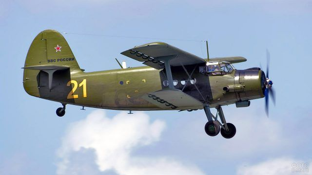 Восстановленный военный АН-2 в небе