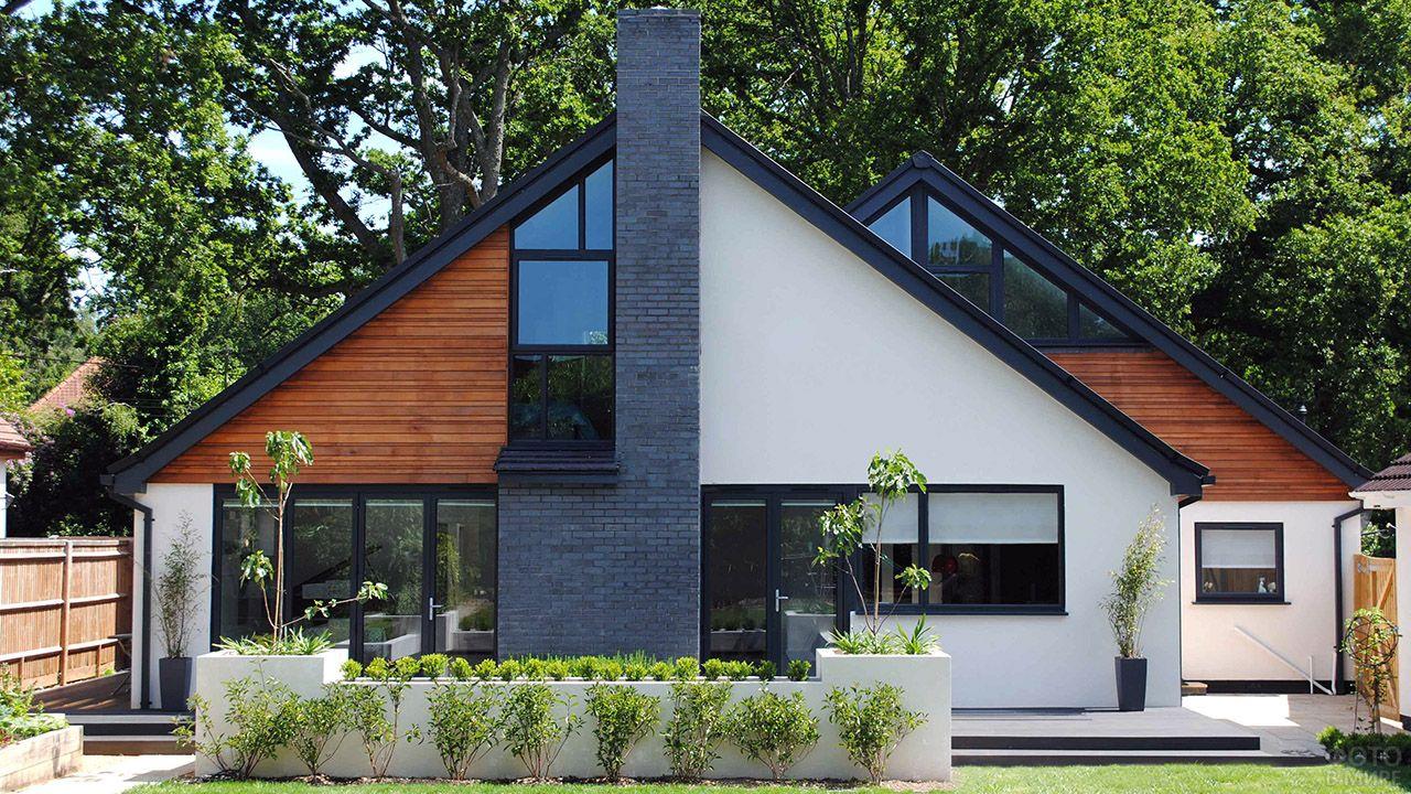 Современные крыши частных домов фото
