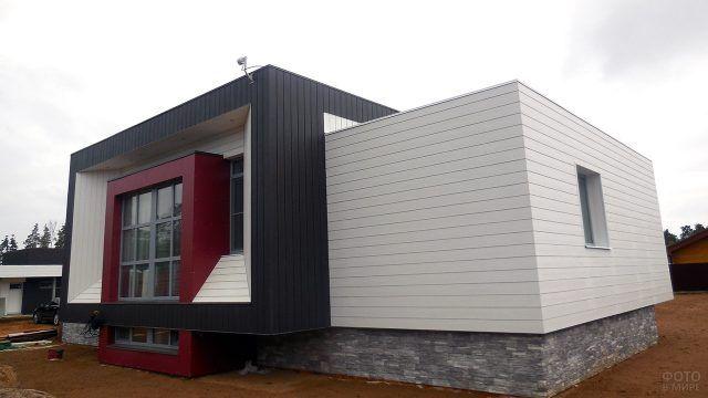 Стильный загородный дом с плоской крышей