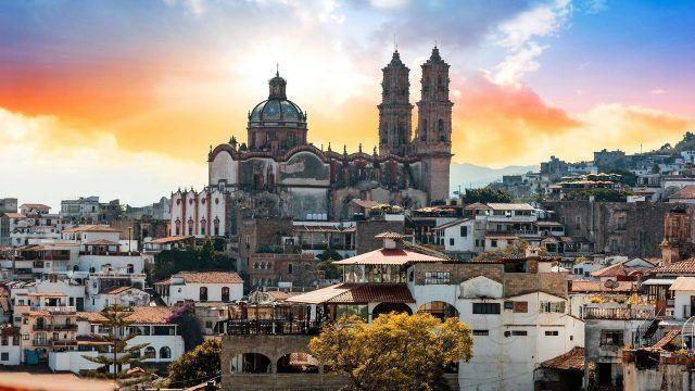 Мехико в лучах заходящего солнца