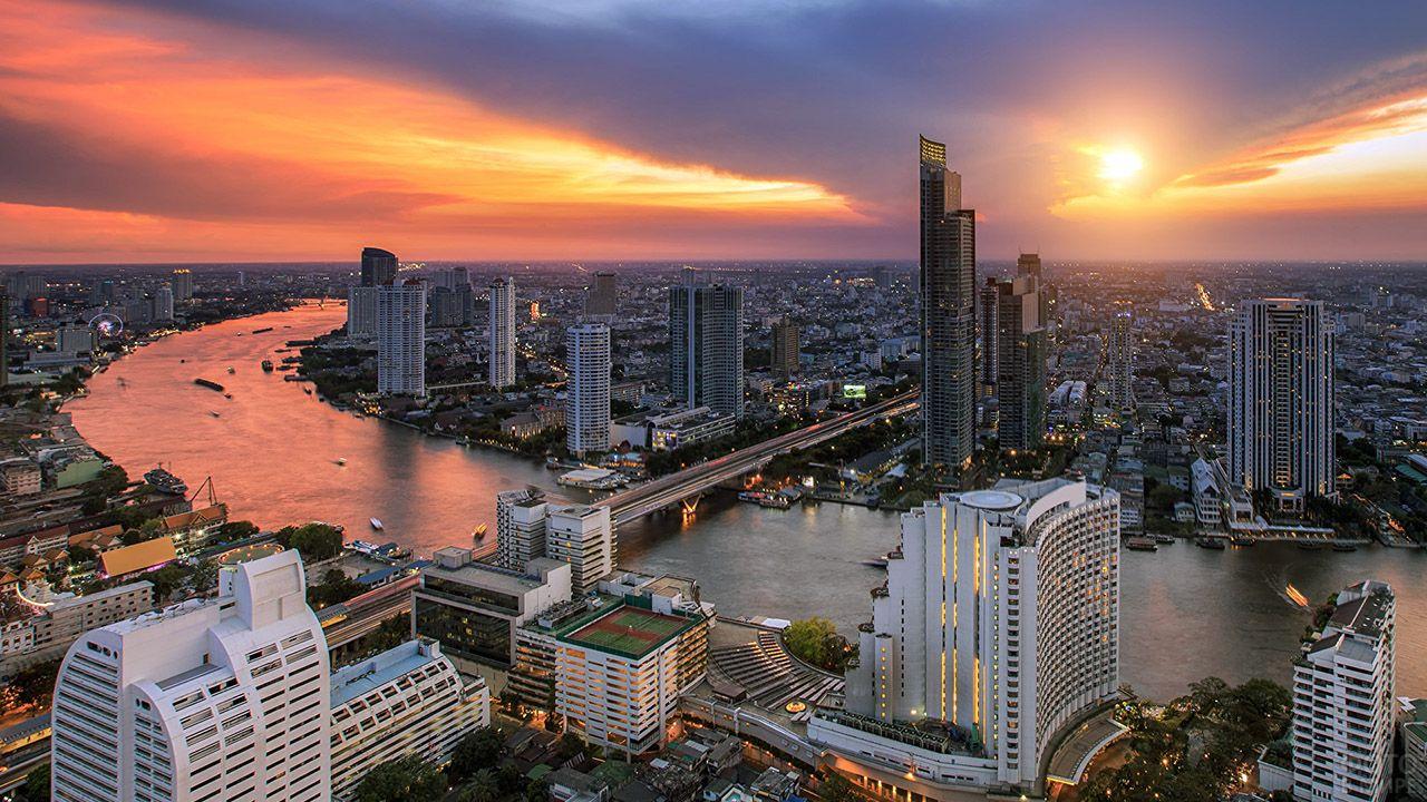 Закат над Бангкоком