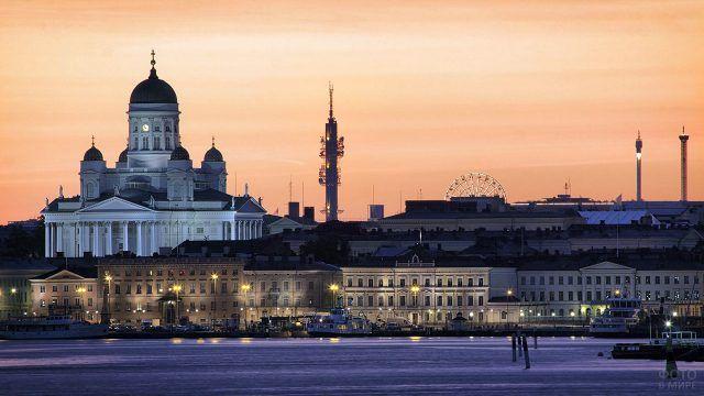 Закат над Хельсинки