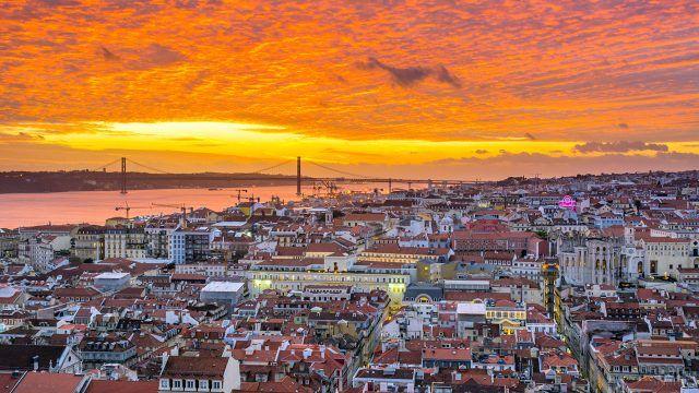 Закат над Лиссабоном