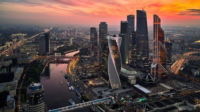 Закат над Москва-сити