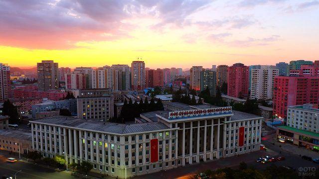 Закат над Пхеньяном