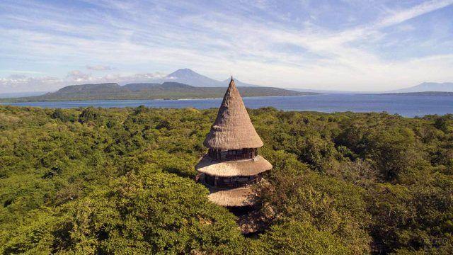 Национальный парк Бали Барат с высоты птичьего полёта