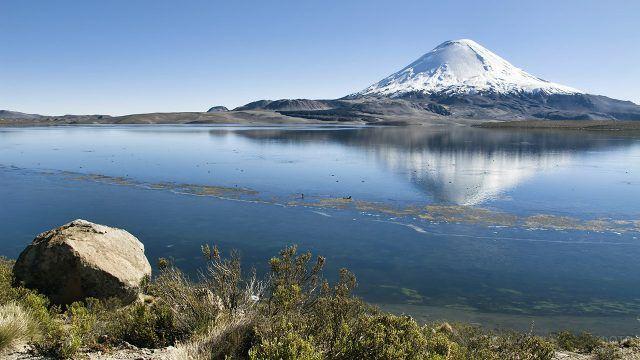 Озеро Чунгара в Южной Америке