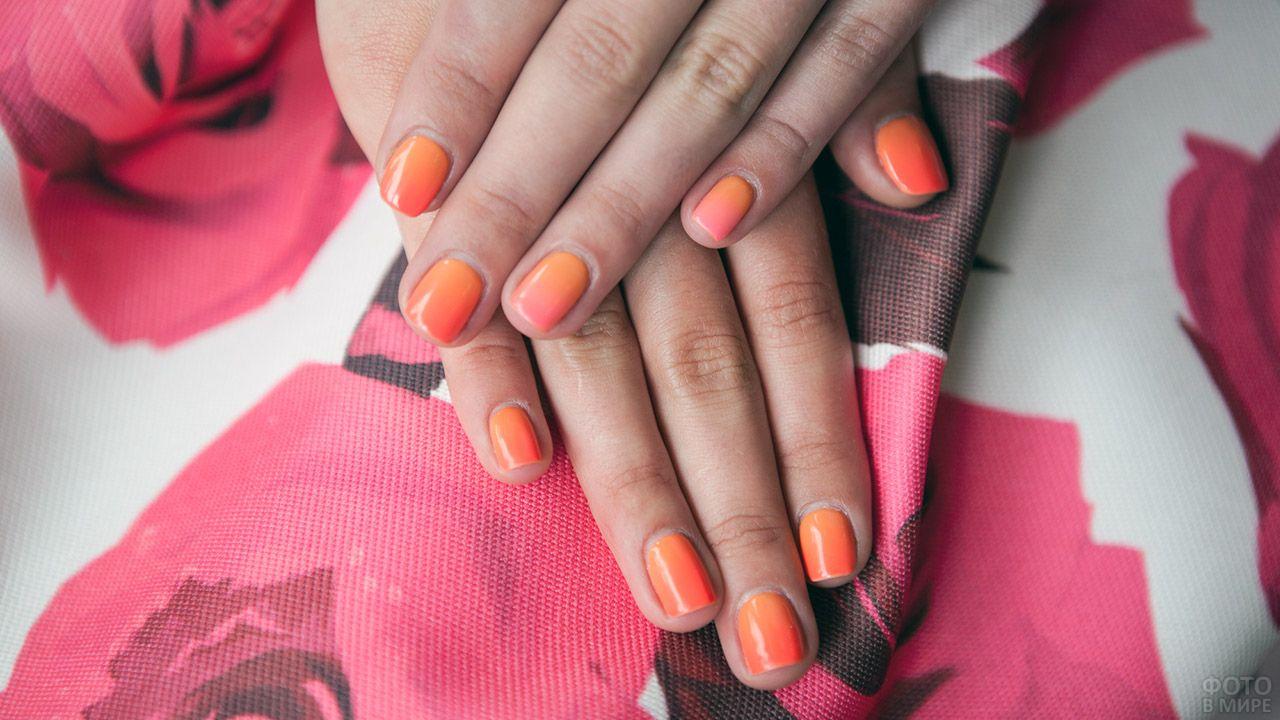 Оранжевый реверс-френч