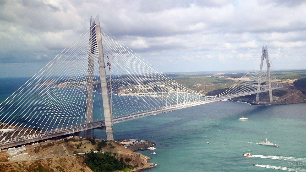 Седьмой в мире по длине и первый по ширине висячий мост Султана Селима Явуза