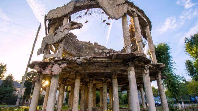 Ротонда - часть разрушенной военной больницы в Воронеже