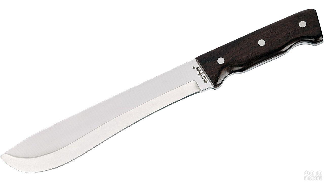Нож мачете с деревянной ручкой