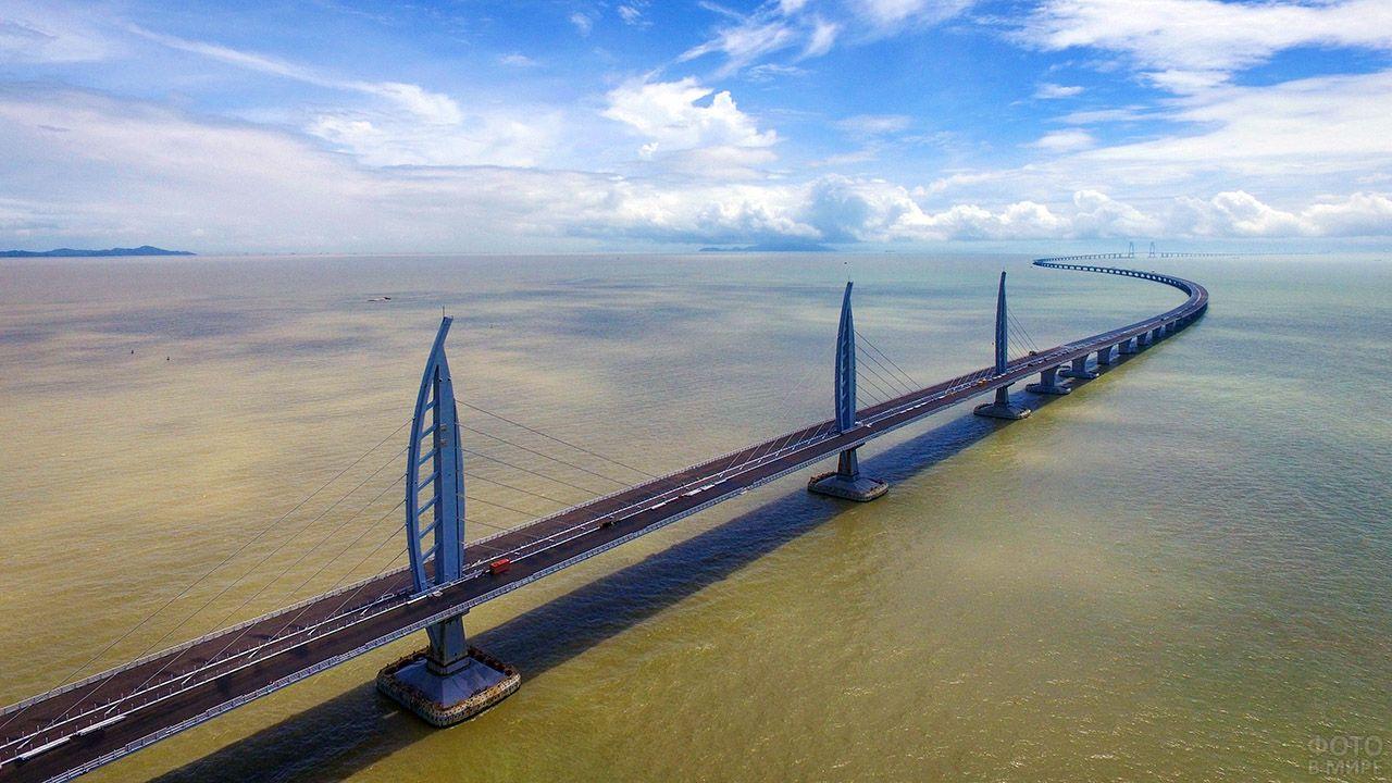 Китайский самый длинный мост над морем