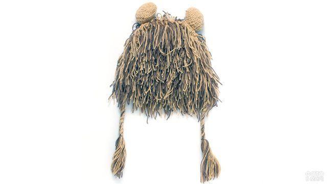 Лохматая шапка-лев для малышей