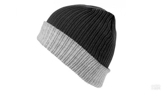 Мужская шапка-бини