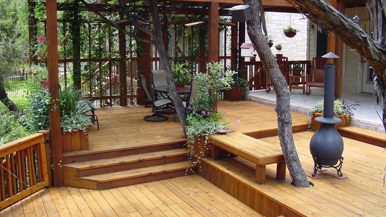 Мебилированная терраса для приёма гостей