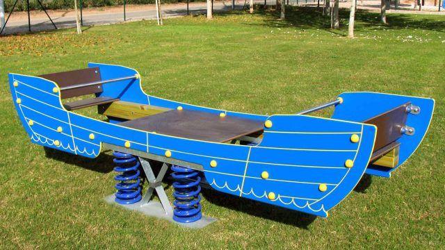 Качели-лодка на пружинах