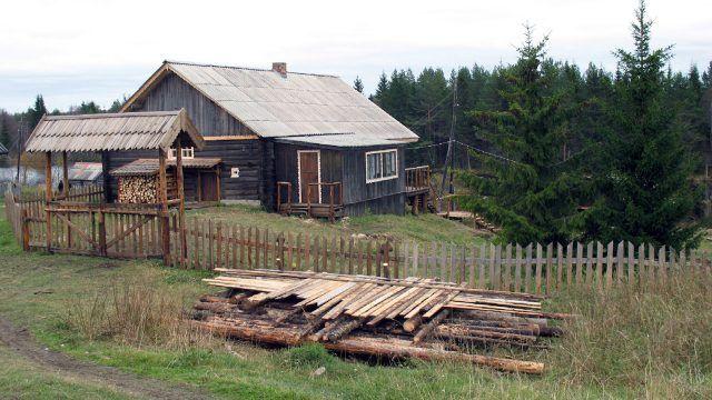 Деревенский дом у леса