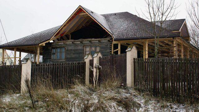 Голландская реконструкция старого белорусского сруба