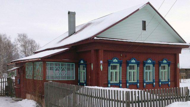 Типичный деревенский дом конца 19 века