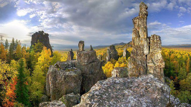 Осень в уральских горах