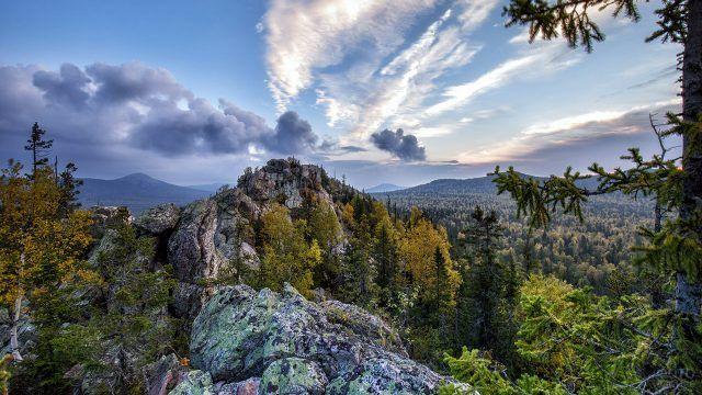 Шикарный вид национального парка Таганай на Южном Урале