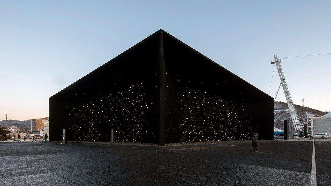 Самое чёрное здание в мире в южнокорейской олимпийской деревне
