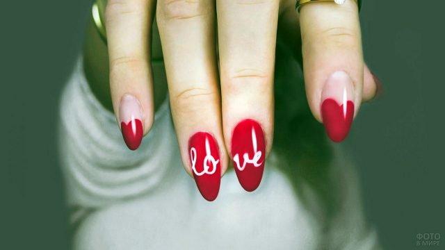 Красный френч с надписью Love
