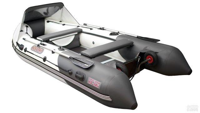 Кильевая моторно-гребная надувная лодка из ПВХ