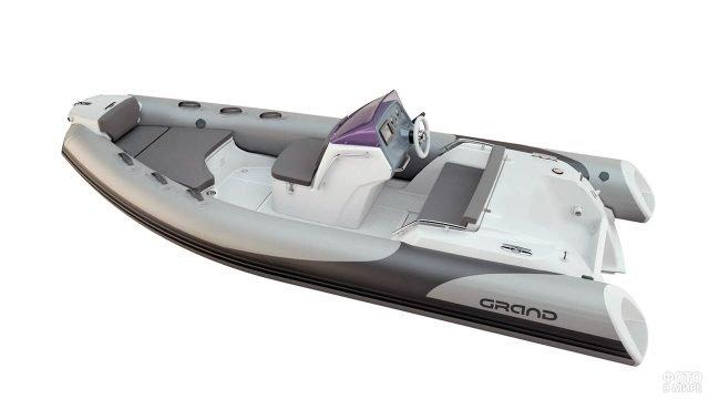 Люксовая надувная моторная лодка с жёстким дном