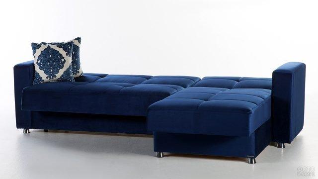 Элегантная тёмно-синяя софа
