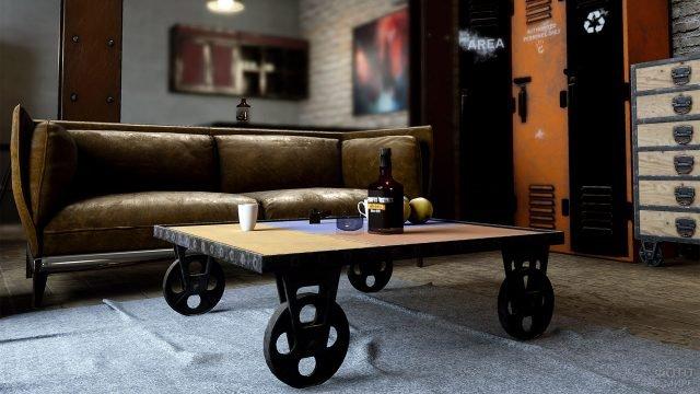 Кофейный столик в стиле индастриал