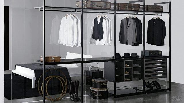 Минималистичная модульная система хранения для гардероба